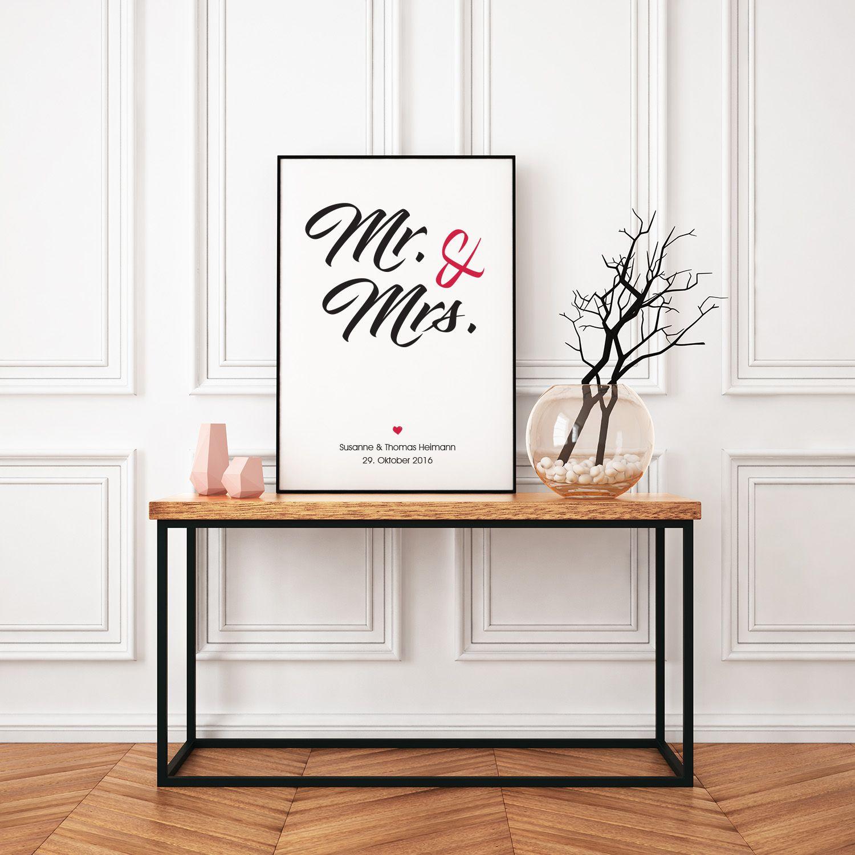 Das Besondere Geschenk Zur Hochzeit: Gerahmtes Typografie