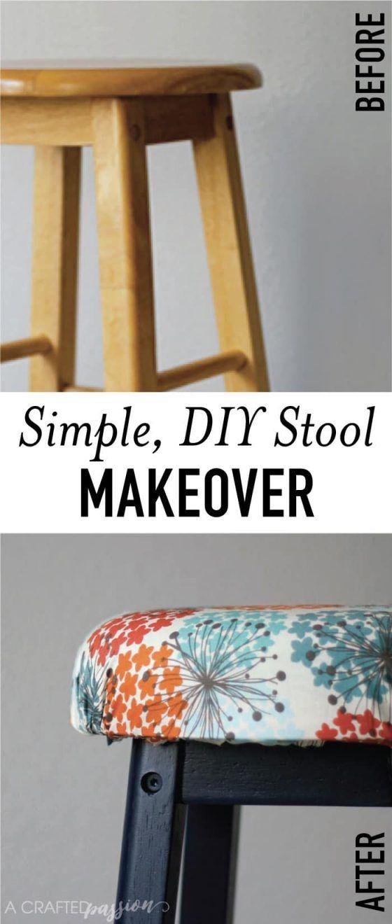 Easy Bar stool Makeover