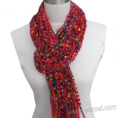 Free Knitting Pattern: CRISTALES Ribbon and Ladder Yarn ...