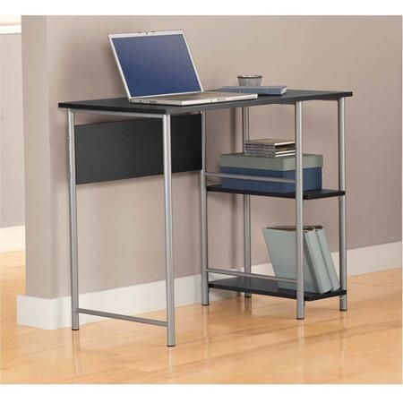 Walmart: Mainstays Basic Student Desk, Black And Silver