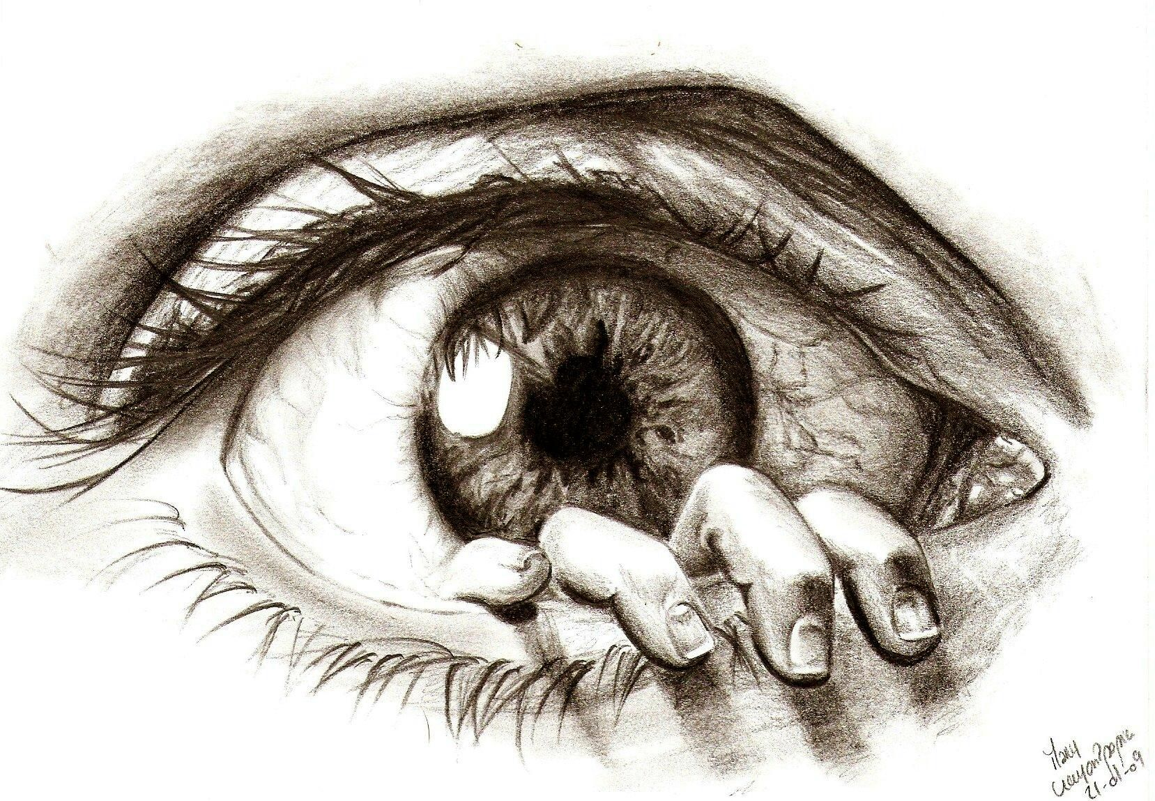 Creative drawings 30 beautiful eye macros drawings and for Beautiful drawings tumblr