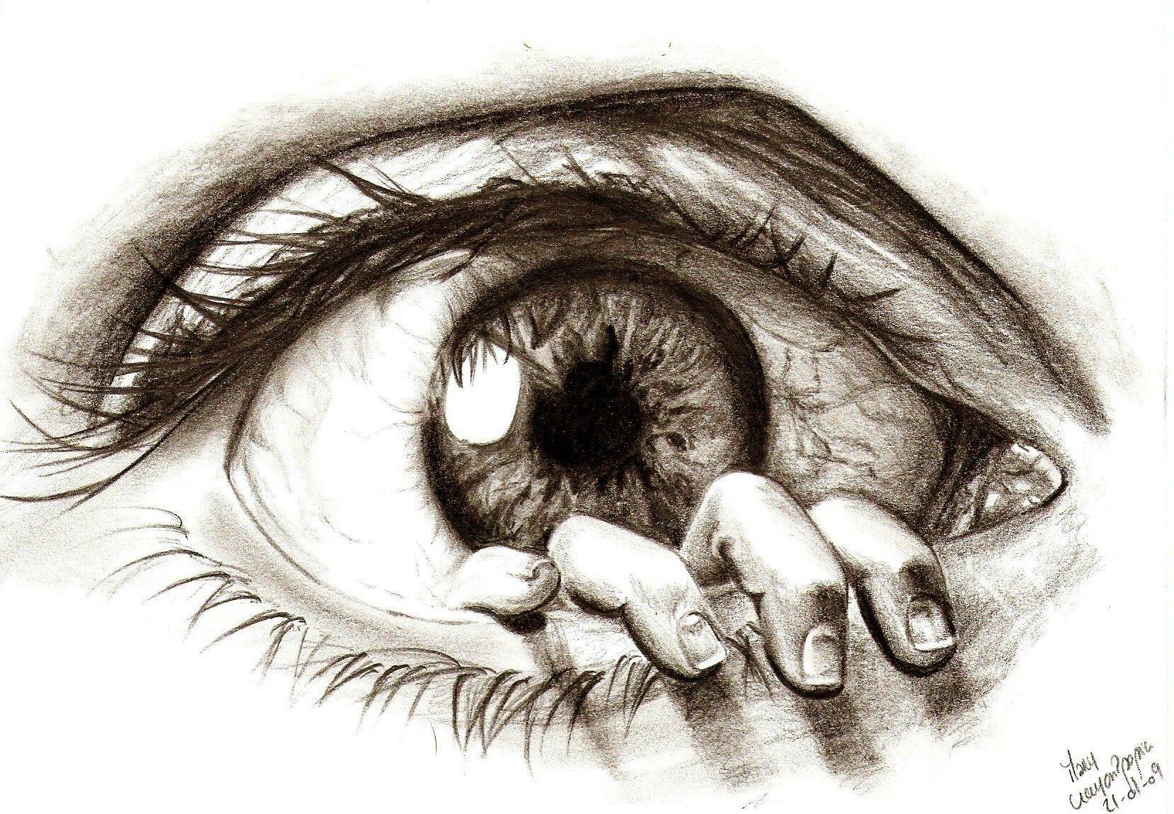 Line Drawing Eye : Creative drawings beautiful eye macros and