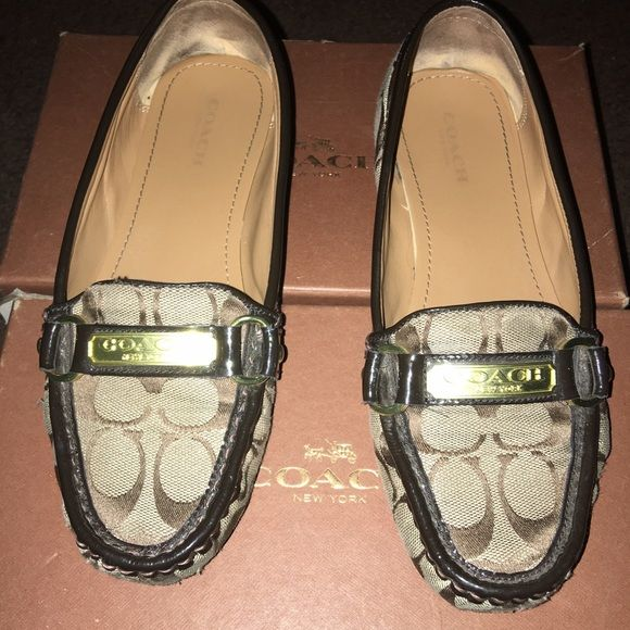 Coach flats In good condition almost like new. Just ware on the front and bottom. Coach Shoes Flats & Loafers