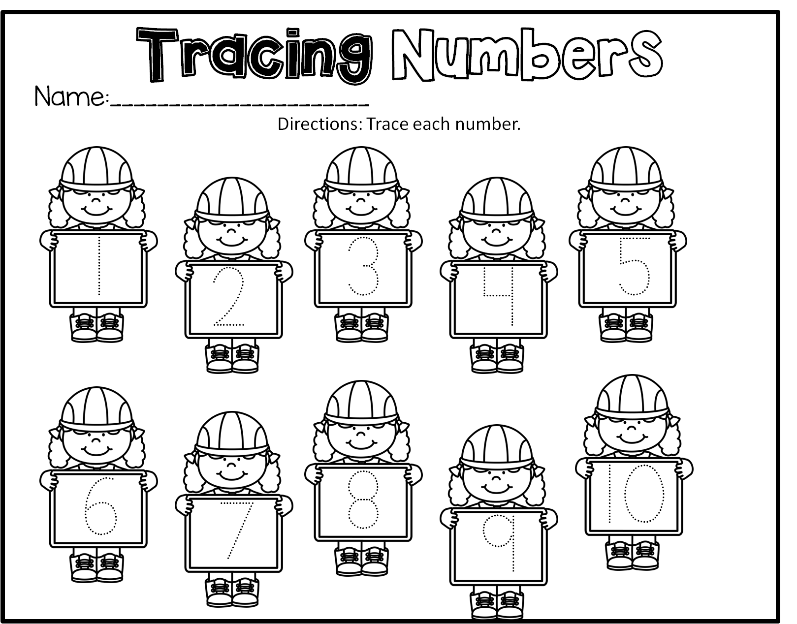 Construction Preschool Math Literacy And Writing Pack