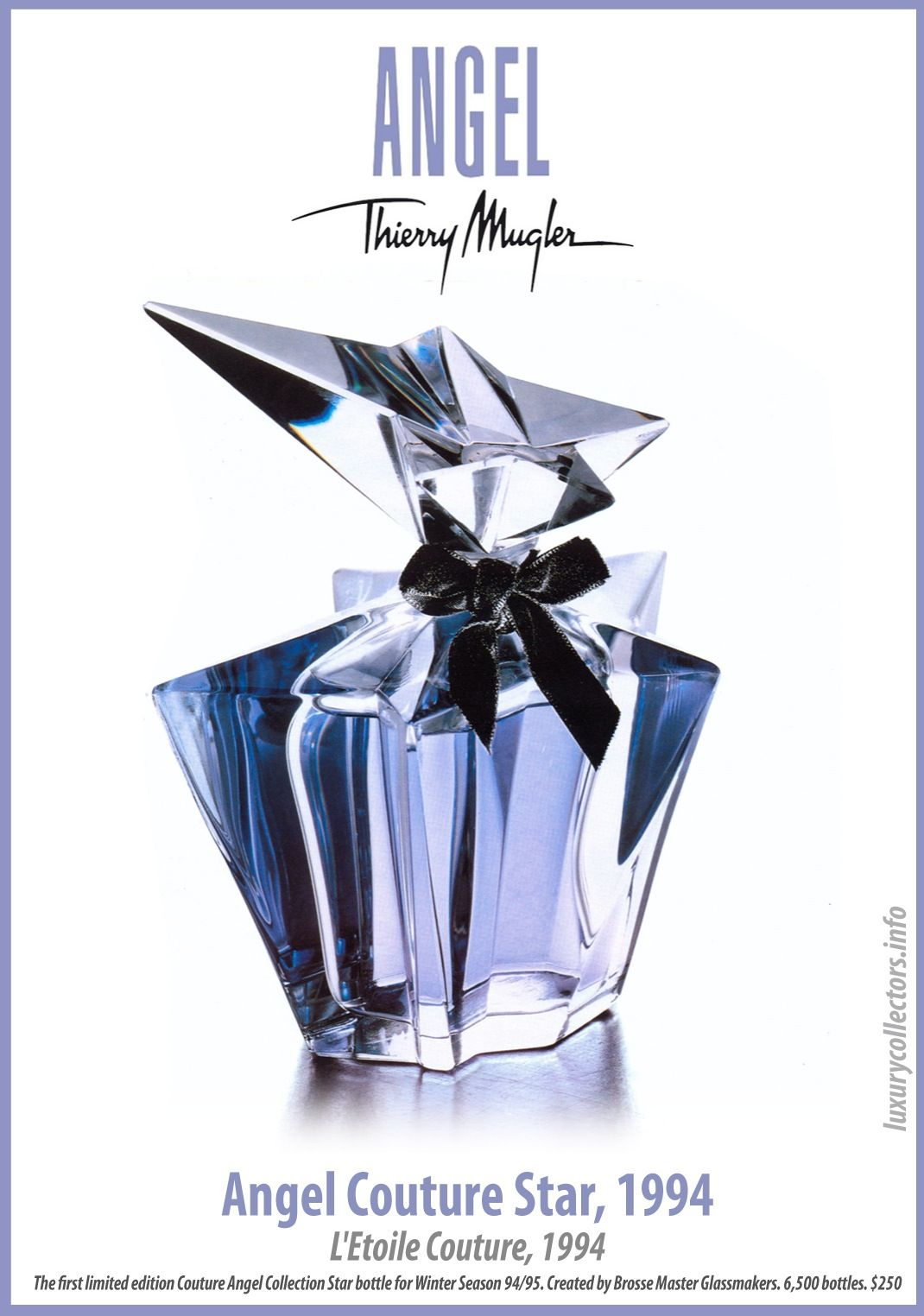 Thierry Mugler Angel Perfume Couture Star L Etoile Couture 1994