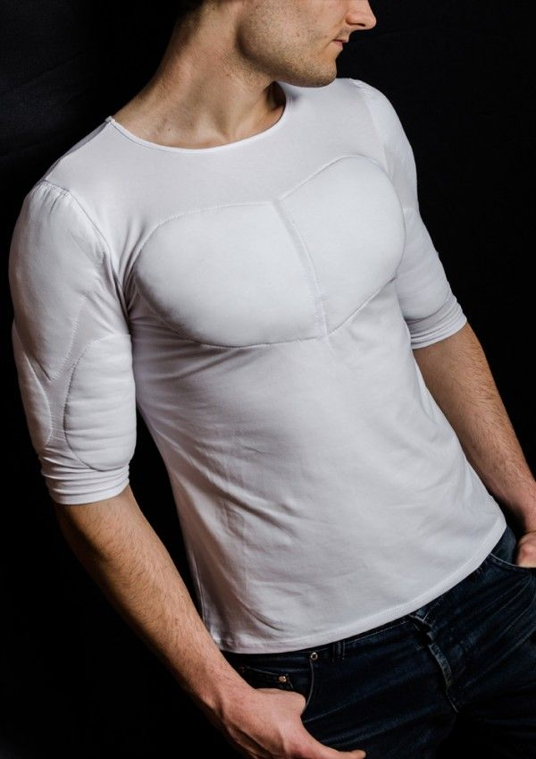 ee70ecaa padded-undershirt-with-muscles-from-clothes-with-muscles | Padded ...