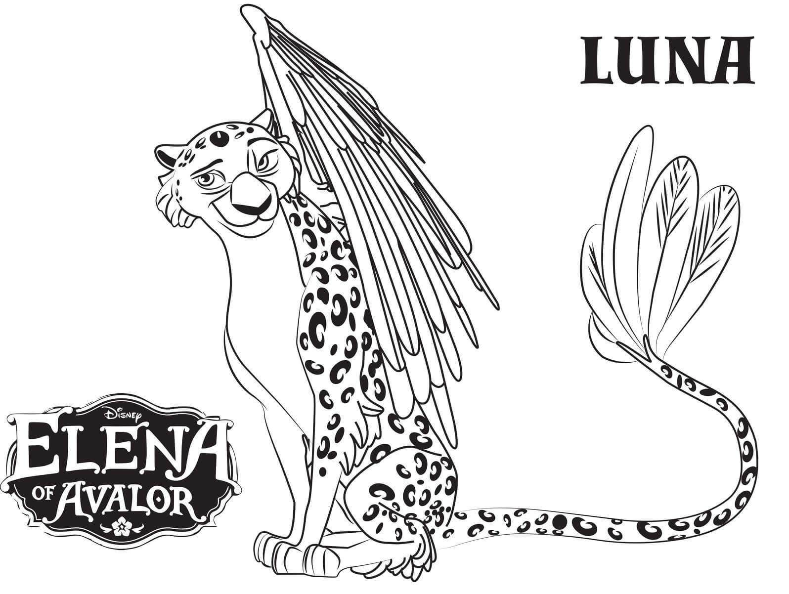 Disney Elena Of Avalor Free Printable Coloring Page Princess