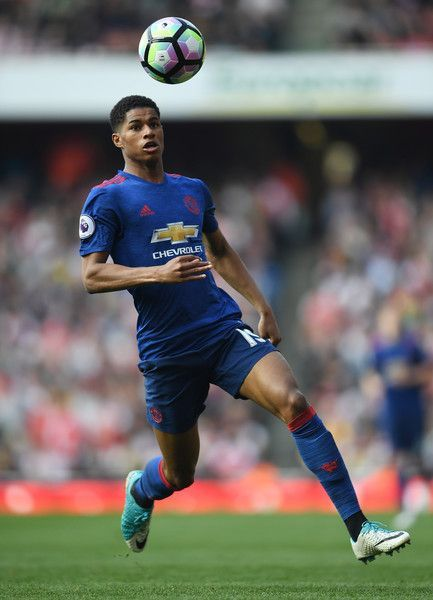 List of Best Manchester United Wallpapers Stadium Marcus Rashford of Manchester United in action during the Premier League match between Arsenal and Manchester United at the Emirates Stadium on May 7, 2017 in London, England.