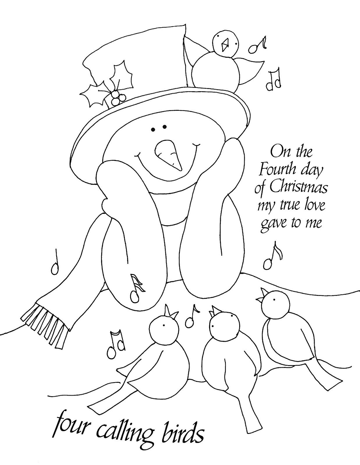 Free Dearie Dolls Digi Stamps: On the Fourth Day of Christmas...