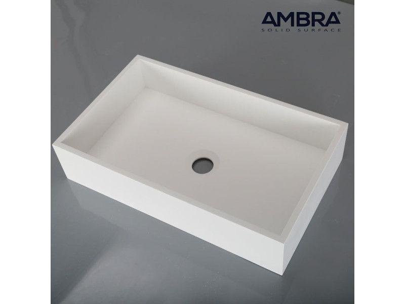 Vasque Rectangulaire 50 Cm En Solid Surface Soho Vente De Ambra Conforama Vasque Vasque Rectangulaire Lavabo