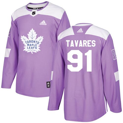 164dbfcdb Adidas Maple Leafs  91 John Tavares Purple Authentic Fights Cancer Stitched  NHL Jersey