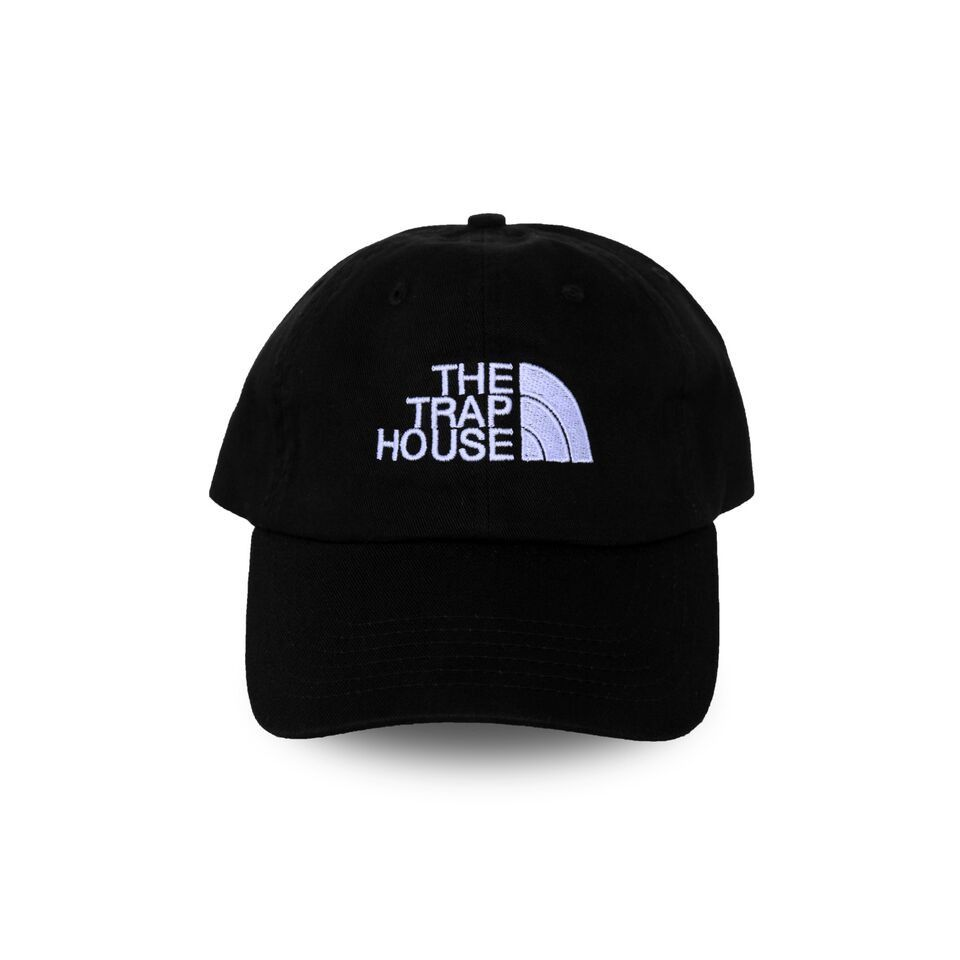 b36c69feb3a9 TrapHouse Dad Hat (Black) Adjustable Pullback Strap OSFA