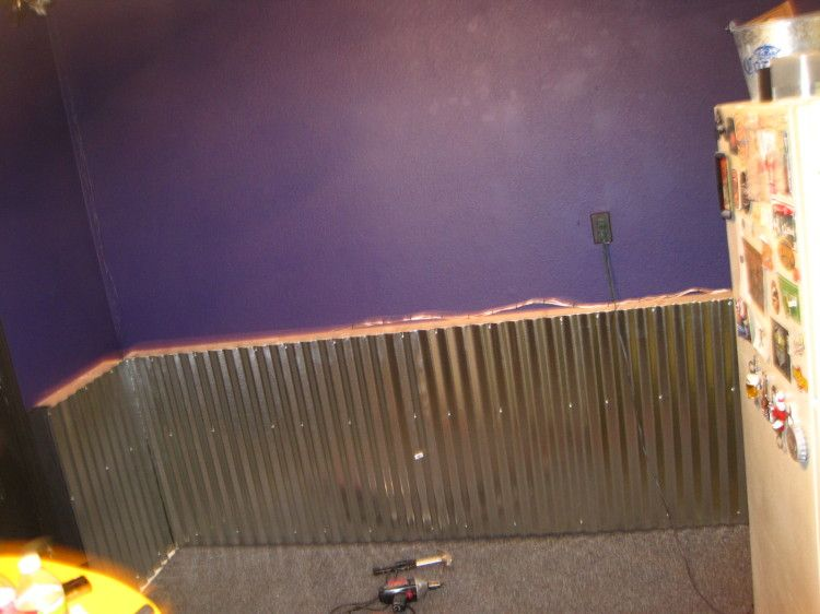 Adding A Corrugated Metal Wainscoting Type Wall To Your Mancave