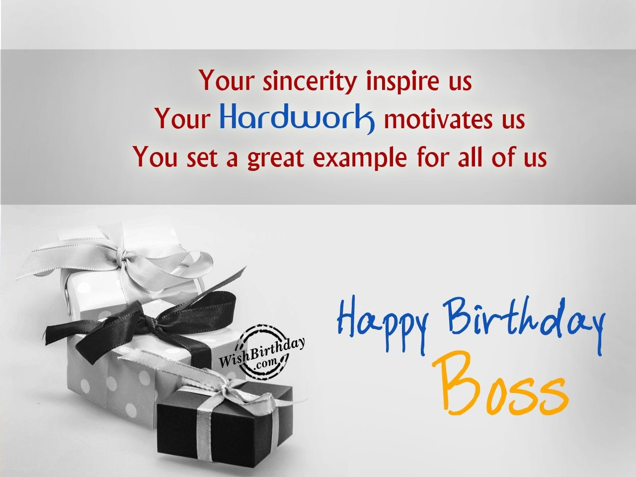 someone whoa been more than nice work with happy birthday boss – Birthday Card for Manager
