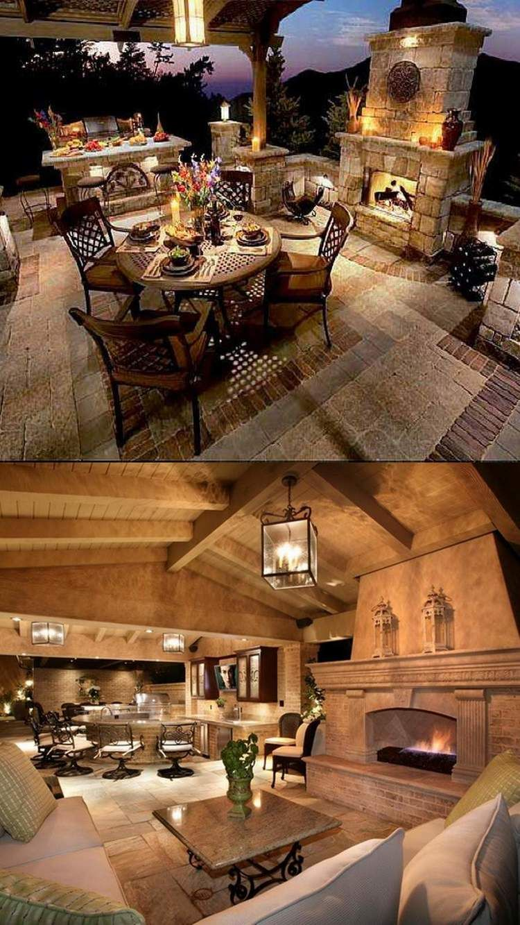 Outdoor Covered Patio With Fireplace Great Addition Idea Dream Dream Dream: Amazing Outdoor Fireplace Designs Part 2 - Style Estate -