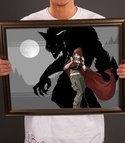 """""""Caitlyn and the Wolf"""" print (~$30 ?)"""