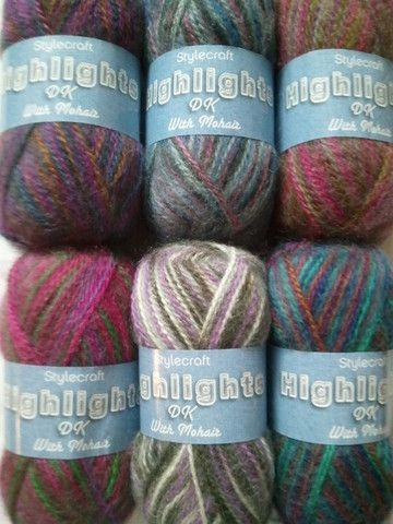 Phat Stuff - Stylecraft Highlights DK with Mohair Self-Patterning Yarn bargin Price buy cheap knitting wool in Bradford West Yorkshire