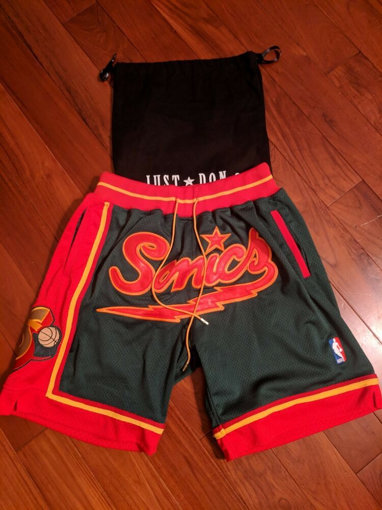 separation shoes 4a1e9 4bd6c JUST DON MITCHELL AND NESS VINTAGE GREEN SEATTLE SUPERSONICS 95 96 MEDIUM   fashion  clothing  shoes  accessories  mensclothing  shorts (ebay link)