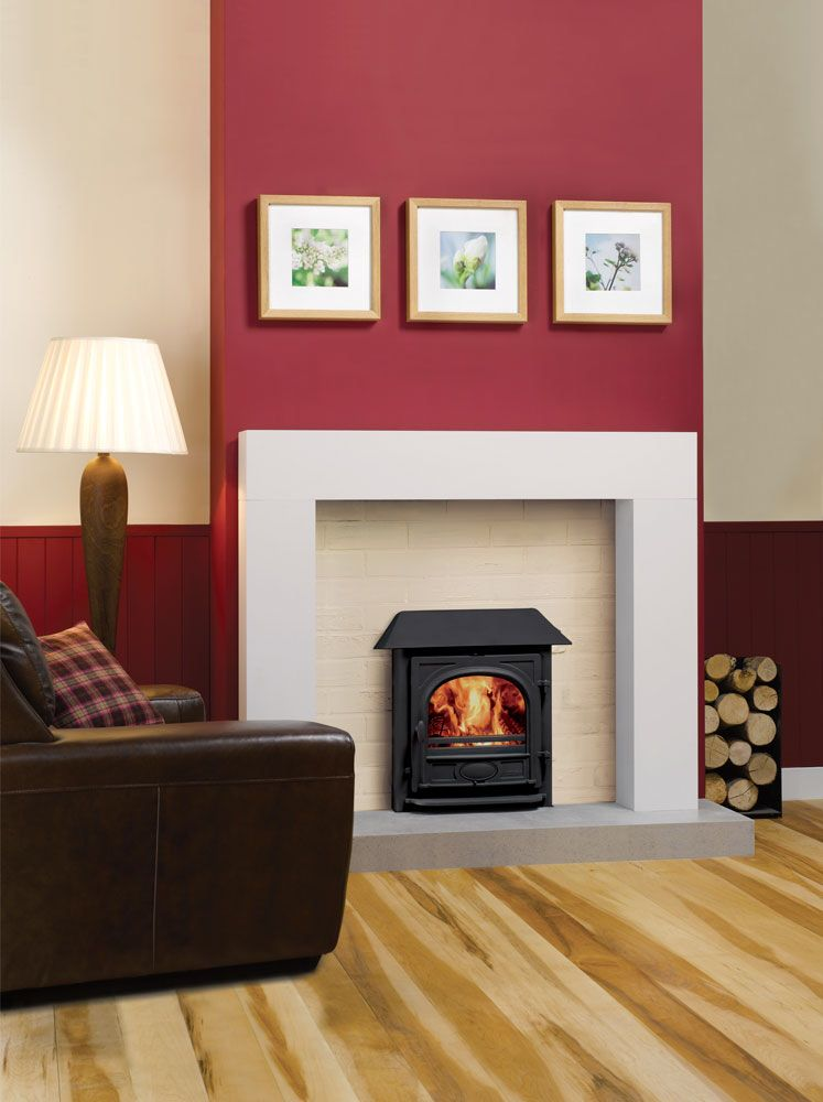 Stockton inset with red chimney breast design project in - Feature walls in living rooms ideas ...