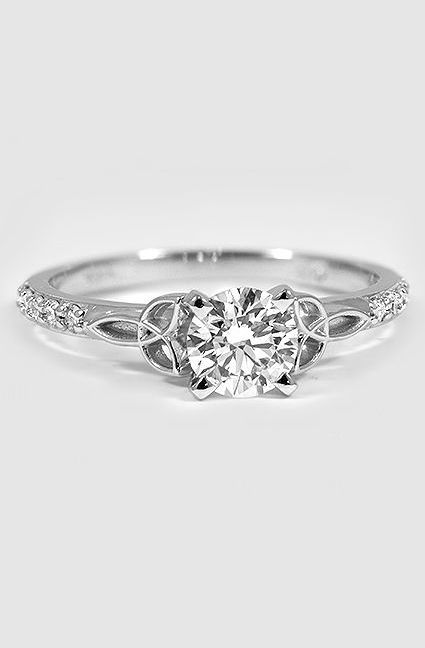 knot triquetra diamond irish ct wedding design engagement ring celtic diamonds pave rings natural