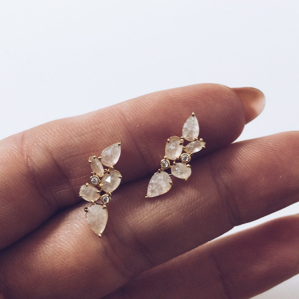 6b916d0f4 Mini Crystal Ear Climbers in 2019 | BLING | Jewelry, Scarf jewelry ...