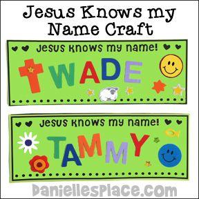Jesus Knows My Name | Mission Friends | Preschool bible, Preschool