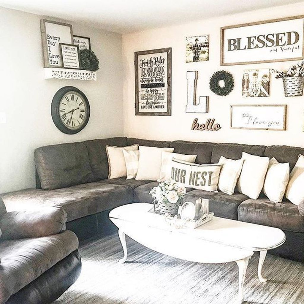 An Amazing Shabby Chic Look For Your Living Room Is Definitely Accomplished Farmhouse Living Room Furniture