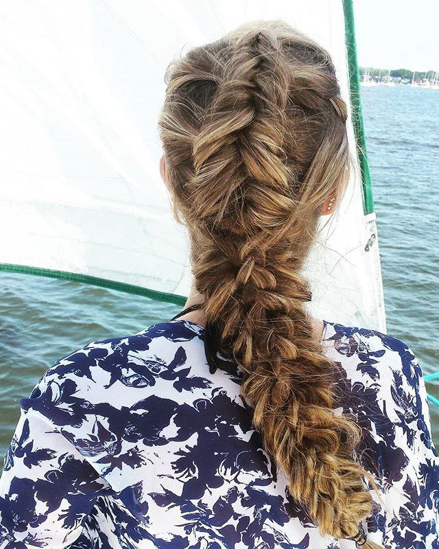 #instabraid #blondebraids #highlights #fishtailbraid #fishtailbraid #braids #bigbraids #modernsalon #braidsonbraids  #dutchbraid #behindthechair