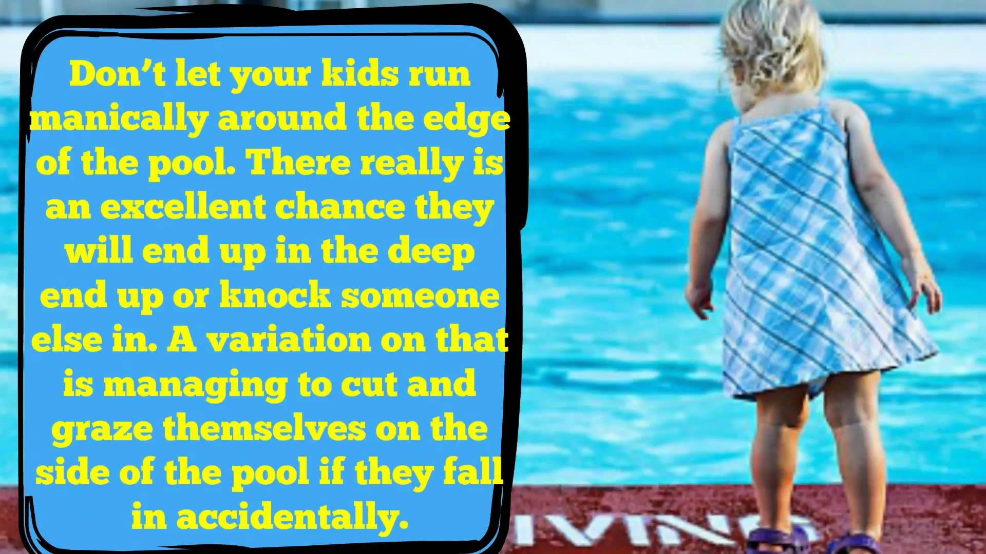 How To Keep Your Child Safe In Swimming Pools #video #youtube