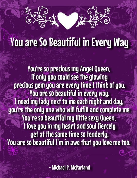 you are so beautiful poems for her   You are beautiful