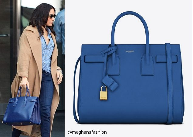 b96acd2ceb5fc Saint Laurent Sac de Jour Bag in Royal Blue Leather aso Meghan Markle