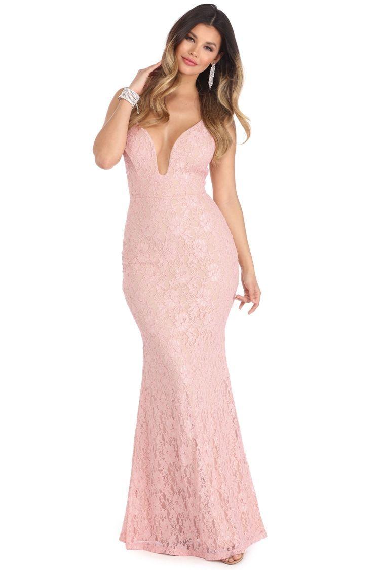 Abrielle Pink Beauty Lace Dress Windsorcloud Dresses Womens Prom Dresses Evening Gowns Elegant [ 1124 x 750 Pixel ]