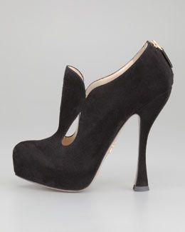 X1BLE Prada Teardrop Cutout Ankle Boot