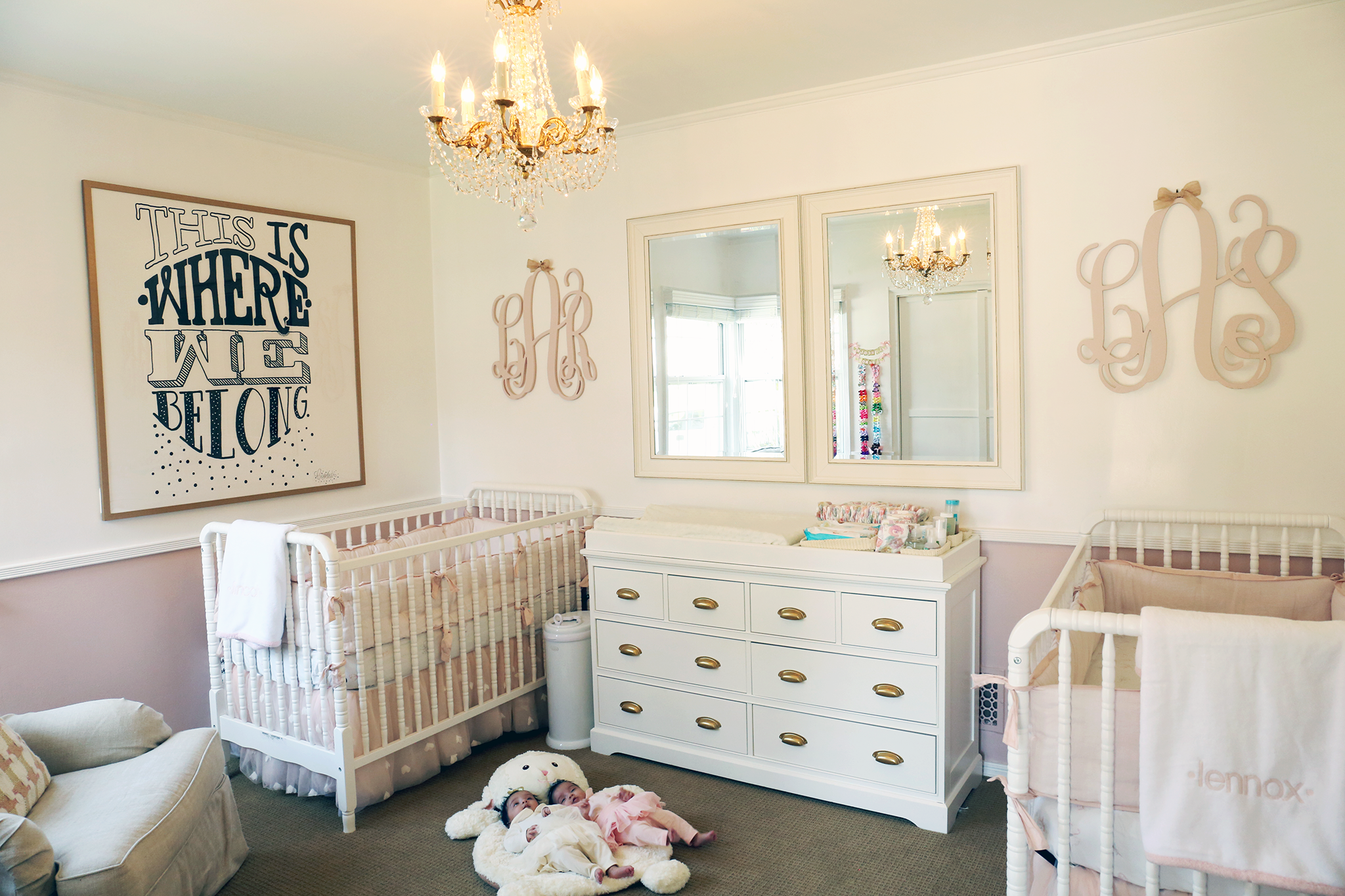 baby room ideas for twins. Project Nursery - Twin Girls Baby Room Ideas For Twins