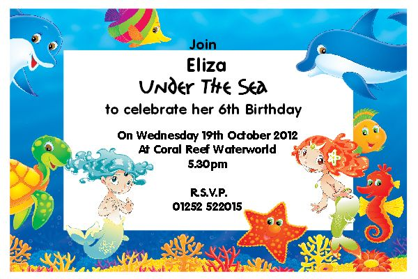 Download Under The Sea Birthday Party Invitations This Invitation For FREE At