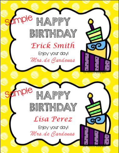 Your Thrifty Co-Teacher: FREEBIE - Happy Birthday Certificates ...