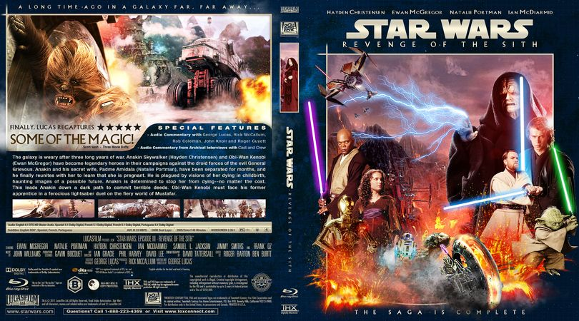 Star Wars Episode Iii Revenge Of The Sith Blu Ray Custom Cover Star Wars Best Movie Posters Revenge