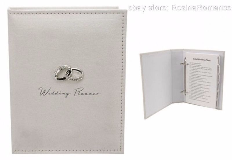 Wedding Planner Organiser Diary With Diamante Rings Bride Bridal Engagement Gift