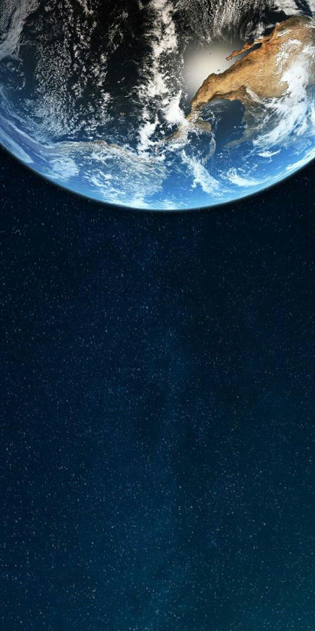 La Terre Vu De L Espace : terre, espace, Terre, L'espace, D'écran, Huawei,, Téléphone,, Pomme