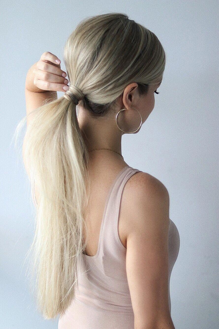 Fine Easy Hair Styles #longeasyhairstyles | Ponytail hairstyles tutorial, Easy hairstyles