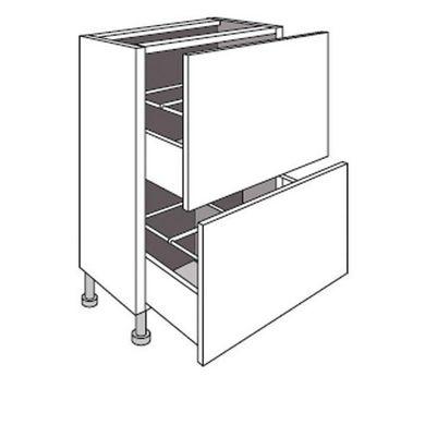 Meuble de cuisine bas faible profondeur 2 tiroirs TWIST