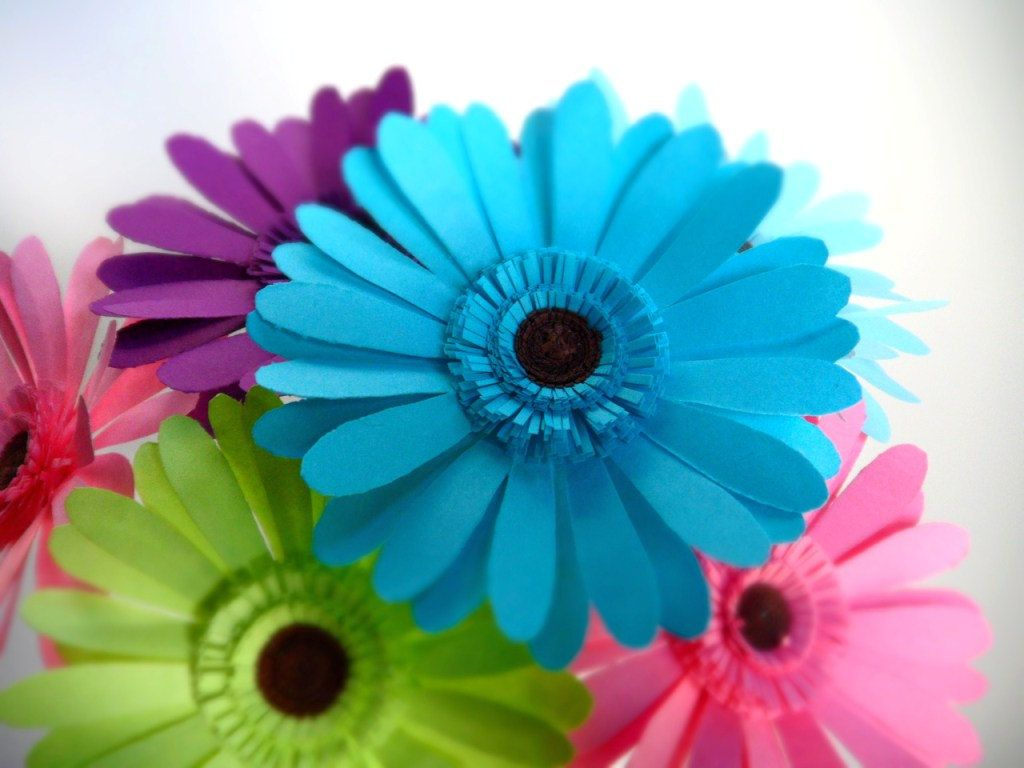 Hippie chic paper gerber daisies bouquet 3600 via etsy items similar to hippie chic paper gerber daisies bouquet on etsy izmirmasajfo Choice Image