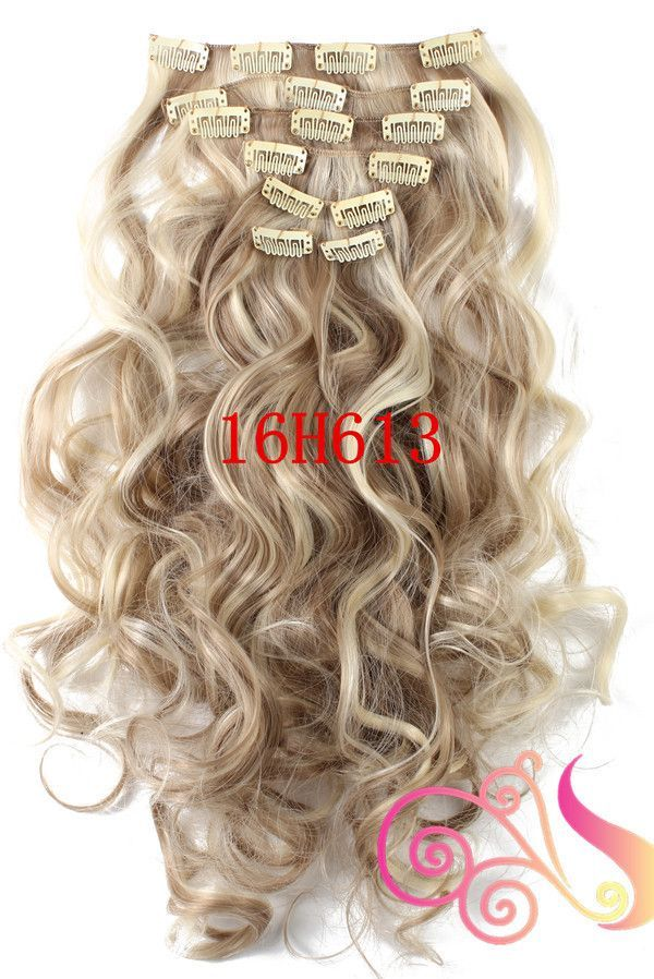 1set Clip On Hair Extension 50cm 20inch 7pcsset Natural Hairpieces