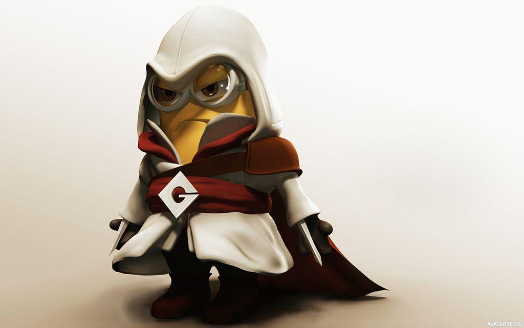 Миньон в костюме Альтаира из игры Assassin's Creed ...