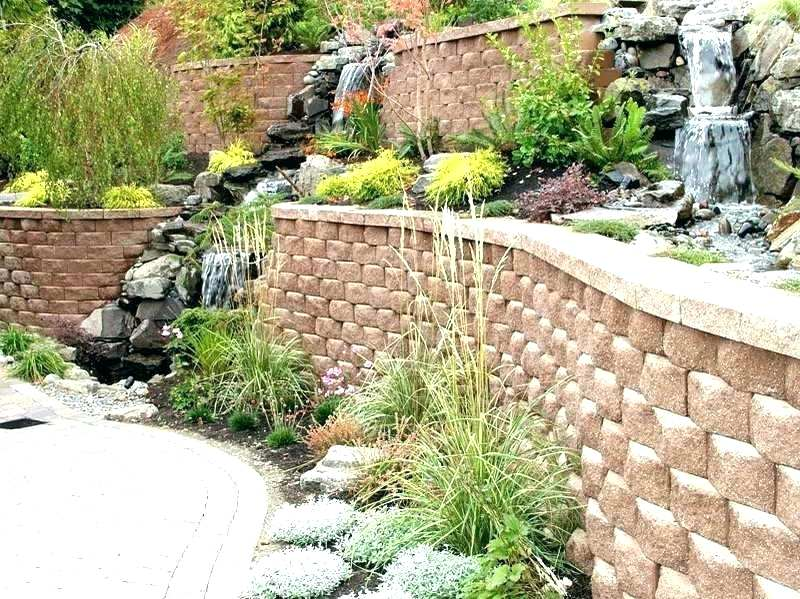Building A Block Retaining Wall With The Fountain Cinder How