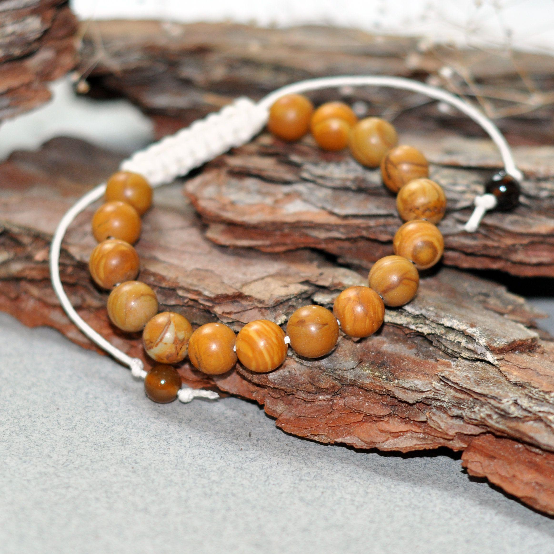 Wood jasper bracelet mens original fantasy pinterest bracelets