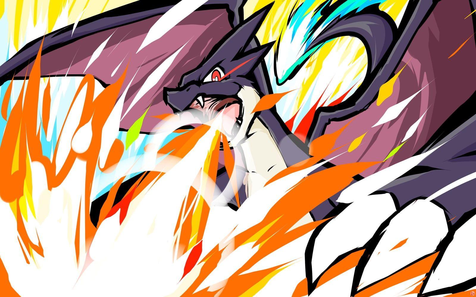 Pokemon Dragon Wallpaper Pokemon Charizard Ishmam Mega Charizard Y Shiny Mega Charizard Y 720p Wallpaper Hdwallpaper Desktop Inspirasi