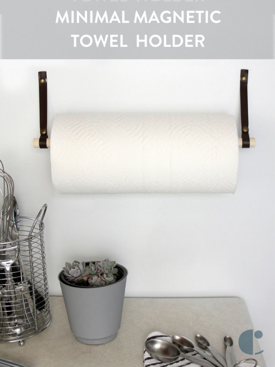 You Re Not Taking Full Advantage Of The Space In Your Kitchen Go Vertical With This Diy Magnetic Pape Paper Towel Holder Diy Towel Holder Toliet Paper Holder