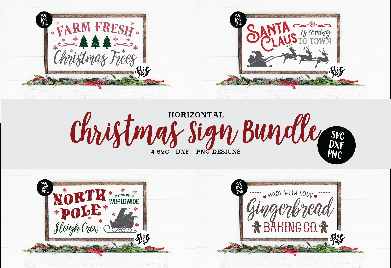 Instant Svg Dxf Svg Christmas Horizontal Sign Bundle Etsy Christmas Signs Svg Easter Svg