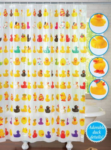 New Rubber Duckie Bathroom Shower Curtain Waterproof Plastic Ducks Kids Bath Rubber Ducky Bathroom Rubber Duck Bathroom Duck Bathroom